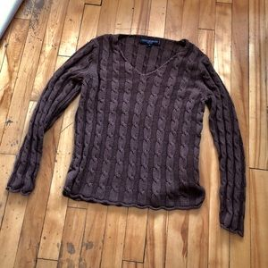 Brown Natural Fibers Contemporaine Petite Knit